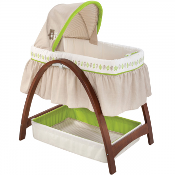 Nôi Bentwood Bassinet with Monitor Baby